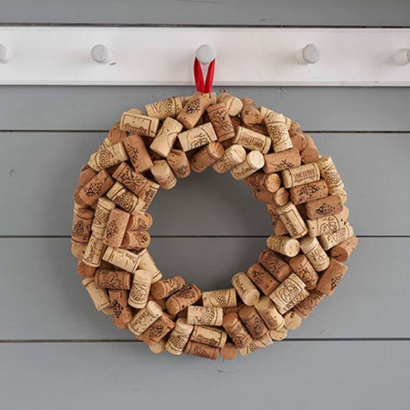 Wine Cork Door Wreath