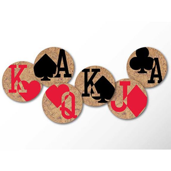 Cork Coasters - Gamblers Charm 50% OFF