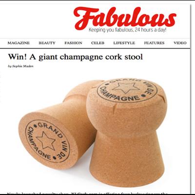 Giant Champagne Cork Stool Grand Vin De Champagne Artwork
