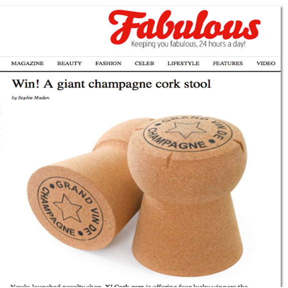 Giant Champagne Cork Stool Grand Vin De Champagne Artwork
