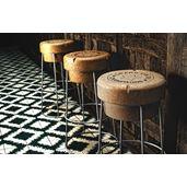 Tall Champagne Cork Bar Breakfast Bar Stools Silver Frame
