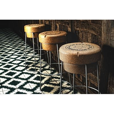 Tall Champagne Cork Bar Breakfast Bar Stools Silver Frame