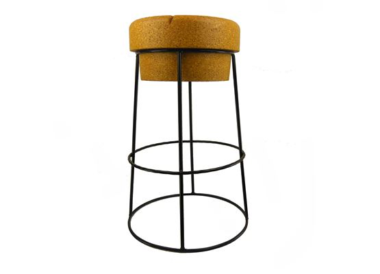 Tall Champagne Cork Bar Breakfast Bar Stools Black Frame