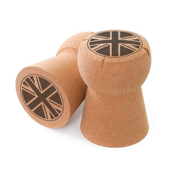 Giant Champagne Cork Stool Union Jack Artwork