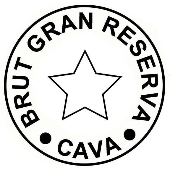 Giant Cava Cork Side Table - 'Brut Gran Reserva Cava' artwork