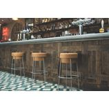 Tall Champagne Cork Bar/Breakfast Bar Stools - Silver frame
