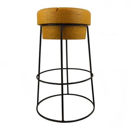 Tall Champagne Cork Bar/Breakfast Bar Stools - Black frame 30% OFF