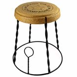 Giant Champagne Cork Wire Cage 'Muselet' Stool/Side Table