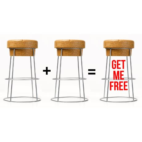 Tall Bar Stools (Silver frame) - Buy 2 get the 3rd FREE