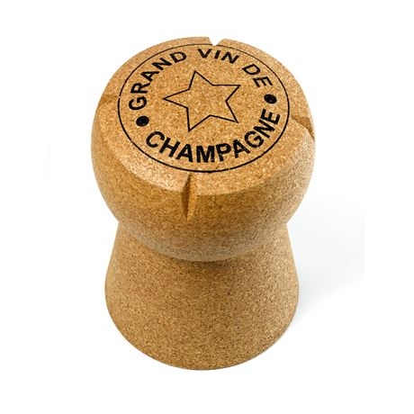 Giant Champagne Cork Stool - 'Grand Vin de Champagne' artwork