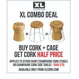 Giant Champagne Cork Stool and Wire Cage (Sliver frame)- COMBO DEAL